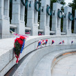 World War II Memorial in Memorial Day 2013, Washington DC, USA — Stock Photo