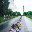 Stock Photo: Vietnam Veterans Memorial on Memorial Day, USA