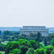 Lincoln memorial, elevated view, Washington DC, USA — Stock Photo