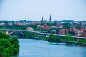 Washington DC by the Potomac river — Stock Photo