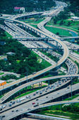 A high view of Houston highways — Stock Photo