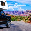 Stock Photo: RV in Capitol Reef National Park, Utah, USA.