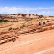 A senior couple is hiking in Grand Staircase - Escalante national monument, Utah, USA. — Stock Photo