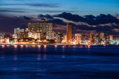 Havana (Habana) at night — Stock Photo