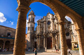 Havana Cathedral, Cuba in sunset. — Stock Photo