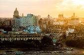 Havana (Habana) in sunset — Stock Photo