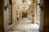 Luxury classic colonnade corridor — Stock Photo