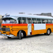 Stock Photo: Retro-styled maltese bus