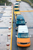 Top view on queue of taxicabs — Foto Stock