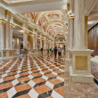 Stock Photo: Luxury classic colonnade corridor with marble floor