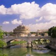 View of castle Saint Angel in Rome — Stock Photo