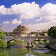 Stock Photo: View of castle Saint Angel in Rome