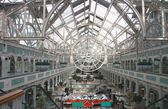 Dublin shopping center with transparent roof — Stock Photo