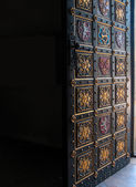 Open decorative door to Czech temple — ストック写真
