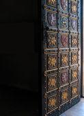 Open decorative door to Czech temple — Photo