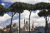 Church Santa Maria di Loreto under stone pines — Stock Photo