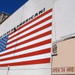 US flag with slogan proud to be american — Stock Photo #23300910