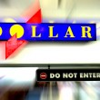 Dollar do not enter road sign - Stock Photo