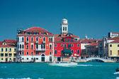 Colourful Venice embankment sea view — Stock Photo