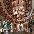 Stock Photo: Luxury classic colonnade corridor with ornate luster