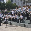 SAN FRANCISCO, CA, SEP 21 - Youth amateur brass orchestra does g — Stock Photo
