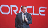 SAN FRANCISCO, CA, SEP 22 - Oracle president Mark Hurd makes spe — Stock Photo