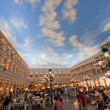 The Piazza San Marco replica on second floor inside of Venetian Resort Hotel & Casino in Las Vegas - Stock Photo