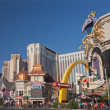 Venetian, Casino Royale and Harrah's hotels at central part of Strip in Las Vegas — Stock Photo #24548997