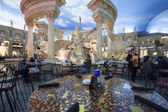 Cafe in Forum Shops at Caesars Palace hotel in Las Vegas — Stock Photo