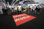 Exhibition hall at Oracle OpenWorld conference in Moscone center — Stock Photo