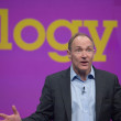 Inventor and founder of World Wide Web Sir Tim Berners-Lee delivers an address to IBM Lotusphere 2012 conference — Stock Photo