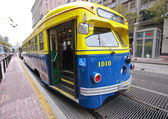 Vintage PCC streetcar in service on the F Market heritage line — Stock Photo