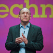 Inventor and founder of World Wide Web Sir Tim Berners-Lee delivers an address to IBM Lotusphere 2012 conference - Stockfoto