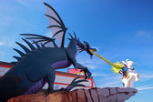 Dragon at Lego zone of Downtown Disney becomes fame in Chinese New Year period — Stock Photo