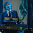 Stock Photo: Andy Ross vocals, guitar and keyboards player of rock band OK Go performs at IBM Lotusphere conference