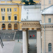 Aerial view to Bolshoi Theatre main entrance in Moscow - 