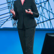 HP president and chief executive officer Meg Whitman delivers an address to HP Discover 2012 conference — Stok fotoğraf