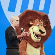 Постер, плакат: DreamWorks Animation chief executive officer Jeffrey Katzenberg delivers an address to HP Discover 2012 conference