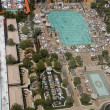 Aerial view on Venetian hotel roof placed swimming pool in Las Vegas - Stock Photo