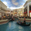 Gondola trip indoors Venetian hotel in Las Vegas — Stock Photo