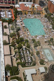 Aerial view on Venetian hotel roof placed swimming pool in Las Vegas — Stock Photo