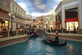 Gondola trip indoors Venetian hotel in Las Vegas — Stock Photo