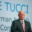 Stock Photo: SAN FRANCISCO, CA, SEPT 24, 2013 - EMC CEO Joe Tucci makes spee