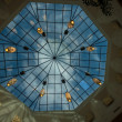 Polyhedron skylight dome on roof — Stock Photo #38645919