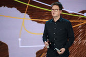 Twitter founder Biz Stone makes speech at Microsoft Convergence conference in Georgia World Congress Center — Photo