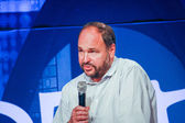 LAS VEGAS, NV - MAY 6, 2014: CEO Pivotal Paul Maritz makes speech at EMC World 2014 conference on May 6, 2014 in Las Vegas, NV — Stock Photo