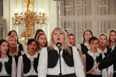 PRAGUE, CZECH REPUBLIC - NOVEMBER 11, 2011: Children's Choir per — Stock Photo