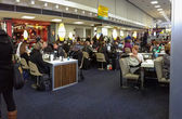 NEW YORK CITY, USA, MARCH 3, 2014 - Internet cafe equipped with iPads at JFK airport terminal on March 5, 2014 in New York City, USA. JFK is the busiest hub for international flights in North America — Stock Photo