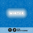 Retro Winter Title Banner - Vector Illustration — Stock Vector