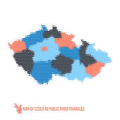 Map of Czech Republic From Triangles — Stock Vector